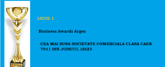 Locul 1 TOP 10K Business Awords Arges R